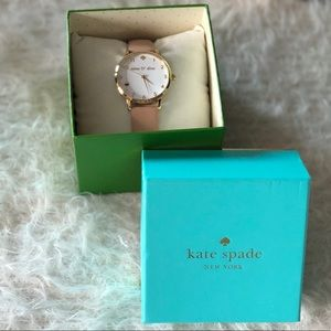 kate spade Accessories - KATE SPADE NEW YORK 'Wine And Dine' Leather Watch